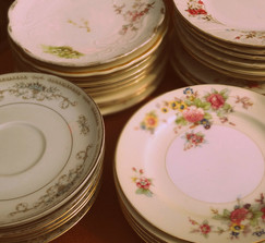 200 Mis-Matched Antique China plates