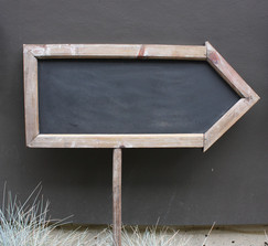 Chalkboard arrow sign