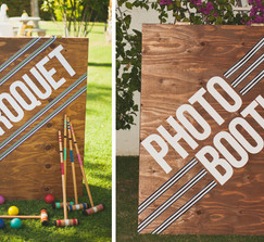 EXTRA LARGE PHOTOBOOTH/CROQUET SIGN SANDWICH BOARD 3 feet by 4 feet