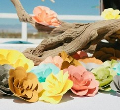 Gorgeous Paper Flowers (136 Total)