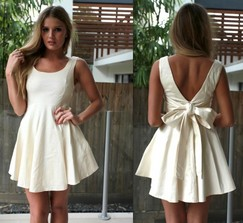 Cream Cocktail Dress Perfect For Bridal Shower Or Bachelorette Party