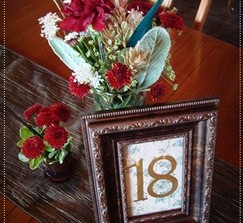 21 framed vintage inspired table numbers