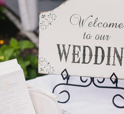 "Rustic ""Welcome to Our Wedding"" Sign & Wrought Iron Easel"
