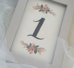 Custom Rifle Paper Co. 1-6 Table Numbers