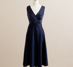 J.Crew Sophia Dress - Dark Navy Tricotine