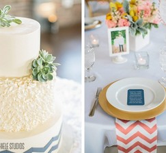 150 Coral and White Chevron Napkins