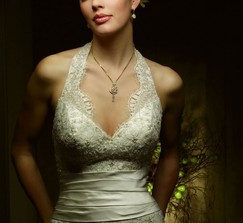 Casablanca Bridal Halter Wedding Dress