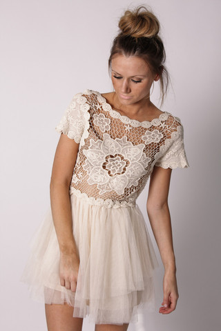 White Dress on Estelle Lace Cream Dress  S M    Marketplace   100 Layer Cake