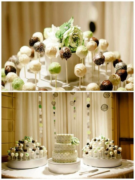 Wedding Inspiration Ideas Cake Pop Display And Matching Cake Stand