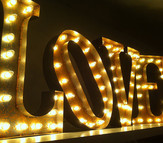 "Vintage Marquee ""LOVE"" Sign"