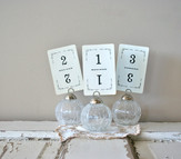 table numbers: vintage playing cards 1-15