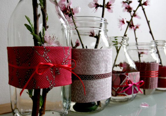 Recycled Vases Pots And Tea Lights Diy Projects 100 Layer Cake
