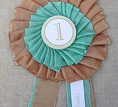 Prize ribbon place cards