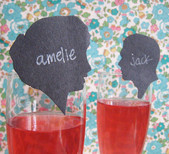 Silhouette drink escort cards