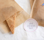 Homemade shortbread favors