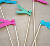 Paper flags by Lily