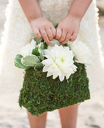 Moss Flower Girl Purse