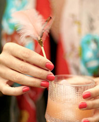 Feather-topped Drink Stirrers