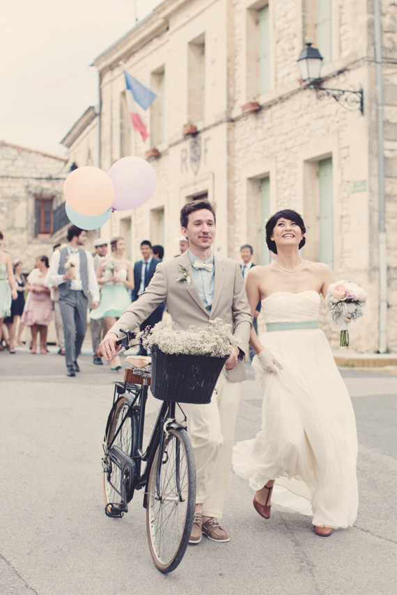 Backyard wedding in France