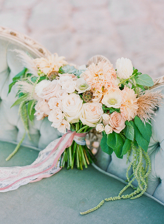 Aqua and peach wedding ideas