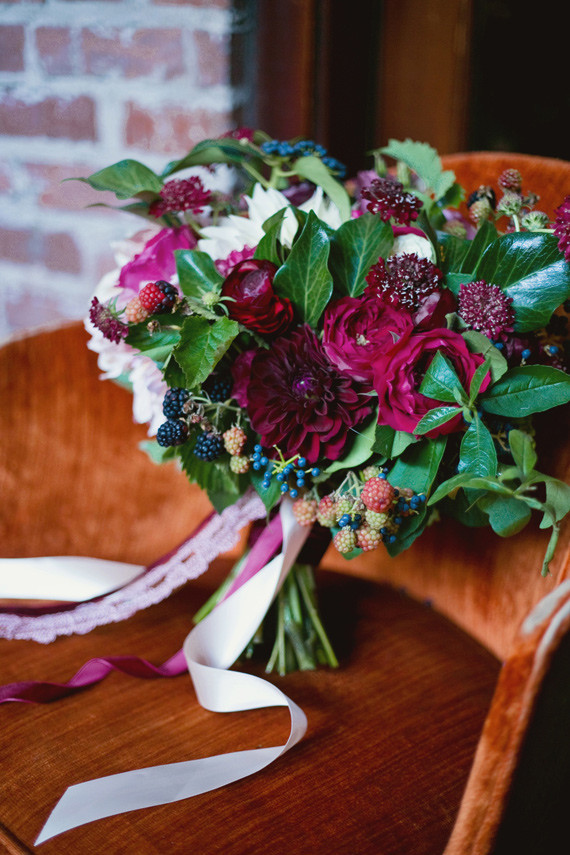 Fall Berry Color Wedding Inspiration Real Weddings And