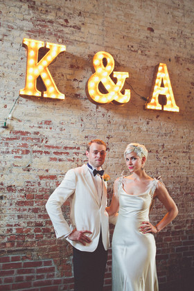 Speakeasy themed Brooklyn wedding