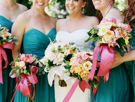 Bright, colorful Colorado wedding