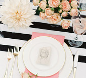 Pink, black and gold dinner party