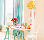 Pink, gold and aqua party inspiration