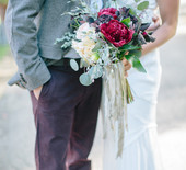 Rustic, modern ranch wedding