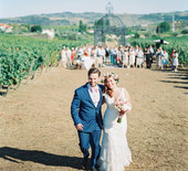 Elegant Portugal vineyard wedding