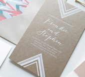 Modern geometric wedding inspiration