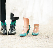 Modern gold & teal Texas wedding