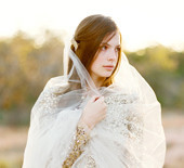 Metallic desert styled shoot