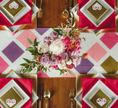 Geometric Valentine's Day wedding ideas