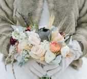 Gold winter wedding inspiration