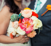 Colorful Texas farm wedding