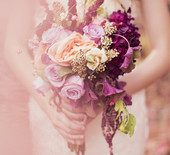 Peach and Plum Wedding Inspiraiton
