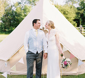 English lakeside yurt wedding