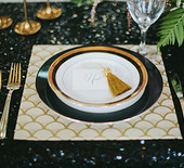 Black& gold wedding inspiration