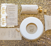 Metallic winter wedding and party ideas