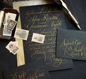 Dark, romantic wedding inspiration