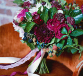 Fall berry color wedding inspiration