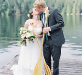 Canadian camp-themed wedding