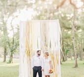 DIY crepe paper wedding ideas