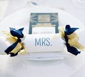 Elegant navy & gold wedding