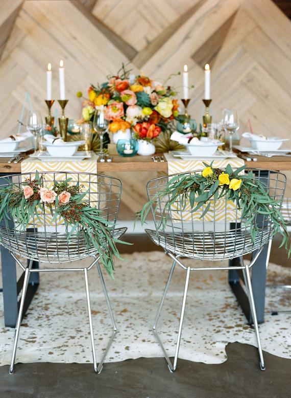 Mid Century Modern Wedding Inspiration Geometric Wedding
