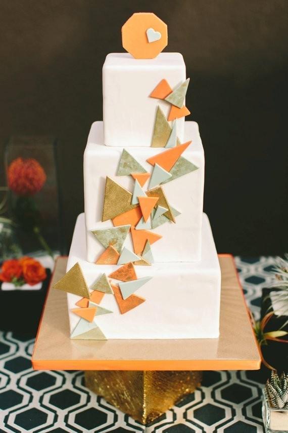 Geometric Modern Wedding Inspiration 100 Layer Cake
