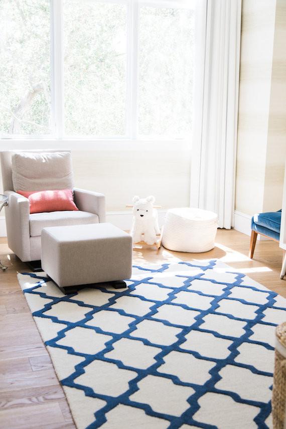Modern Pink And Blue Nursery Nursery Kids Room Decor