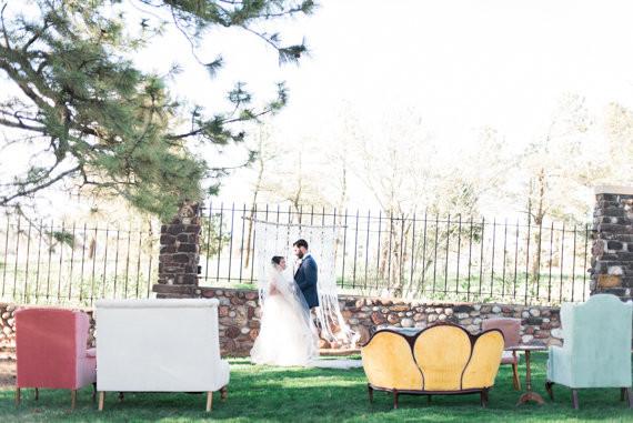 Ranch wedding portrait
